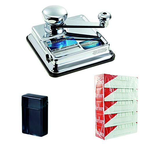 kogu Set OCB Mikromatic Zigaretten Stopfmaschine, inklusive 5 x 200 Marlboro Red Hülsen und Zigarettenbox