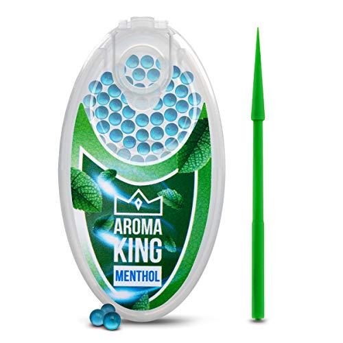 Aroma King - Premium Menthol Kapseln 100er Set | DIY Menthol Filter für unvergesslichen Flavour Geschmack | inkl. Box zur Aufbewahrung der aromatischen Click Hülsen Kugel