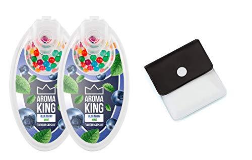 SweedZ Aroma Kapseln Blueberry Mint/Perlen für Zigaretten + Taschenascher - 200 Kugel