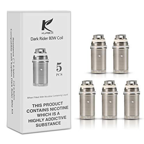 Kupbox Verdampferkopf, EC Coil 0.5 Ohm (Packung von 5) für Kupbox E Zigarette 80W , ohne Nikoti