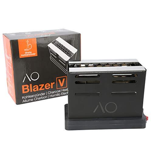 AO Blazer Shisha V-Kohleanzünder 800 Watt | Heizt die Kohlen von 3 Seiten auf !
