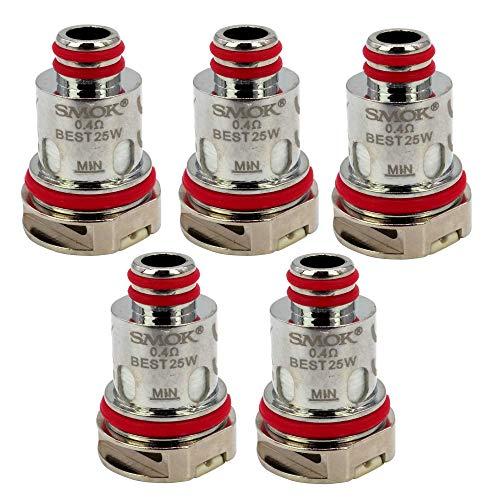 SMOK RPM Coils (0,4 Ohm), Riccardo DL Mesh Verdampferköpfe für e-Zigarette, 5 Stück