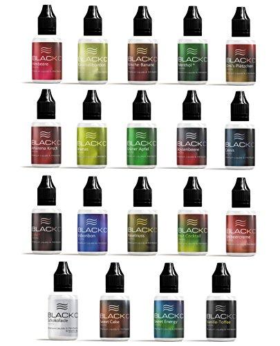 BLACKC PREMIUM E-Liquid für E-Zigaretten und E-Shishas, MADE IN GERMANY, Nikotinfrei, 19 Geschmackssorten, 20/50 ml Fläschchen (Boysenbeere, 50)